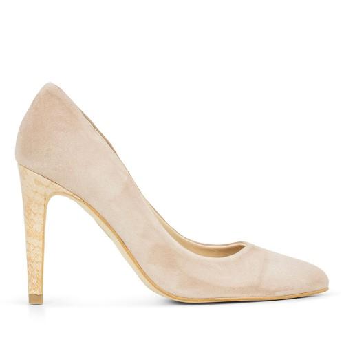 Zapato De Piel Olga Tibet Nude Precio más bajo de venta Comprar Precio de venta al por mayor R40TOA