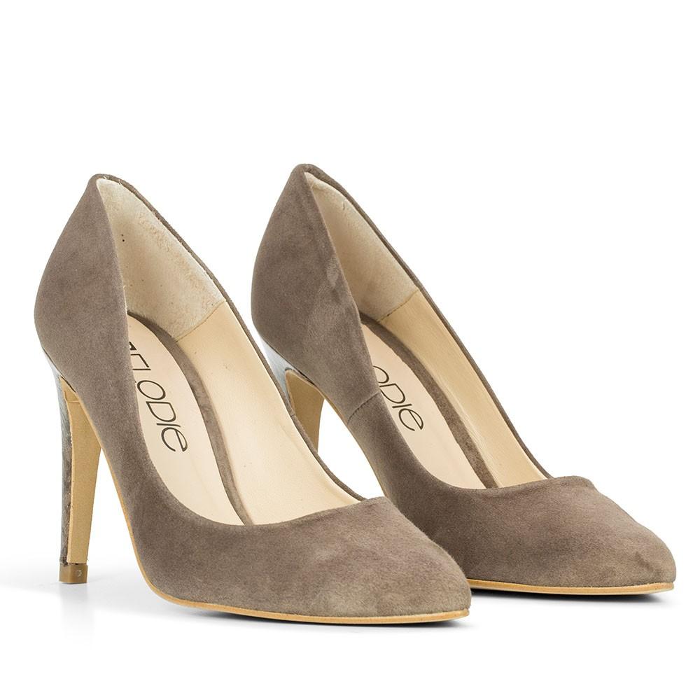 Zapatos plateado Tacón cuadrado de punta redonda Elodie Shoes para mujer Oficial de envío gratis G58QyY