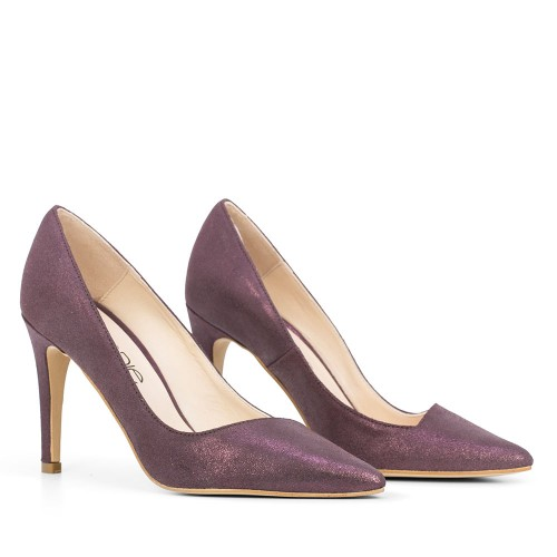 ZAPATO DE PIEL ALILA POLVOROSO GRAPE