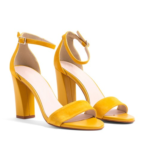 ZAPATO SALON VIRGINIA EN PIEL ANTE AMARILLO