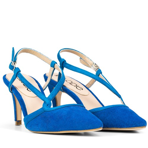 SANDALIA DE TACON ASHLEY ANTE AZUL