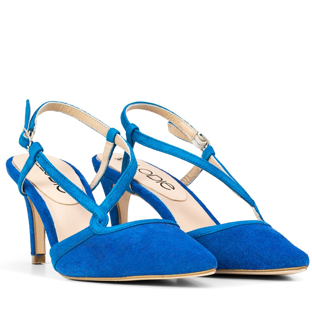 SANDALIA DE PIEL ASHLEY ANTE AZUL